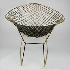 Harry Bertoia Metal Chromed PU Cushion Wire Diamond Chair