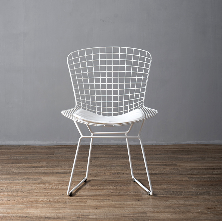 Mid century modern unupholstered PU harry bertoia wire chair 3