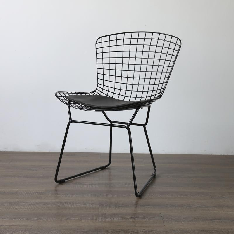 Mid century modern unupholstered PU harry bertoia wire chair 6