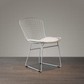 Mid century modern unupholstered PU harry bertoia wire chair 10