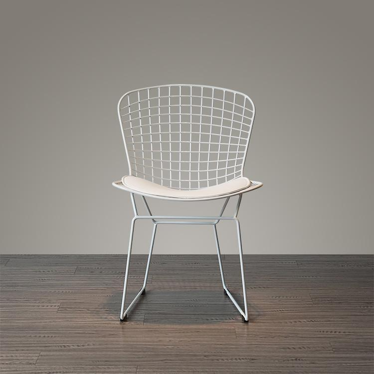 Mid century modern unupholstered PU harry bertoia wire chair 11