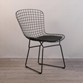 Mid century modern unupholstered PU harry bertoia wire chair 12