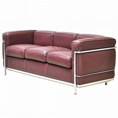 Living room furniture le corbusier leather LC2 sofa
