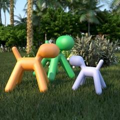 Home furniture fiberglass eero aarnio dog shaped magis puppy chair
