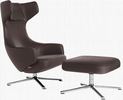 Modern living room leisure recliner swivel stuhle deck grand repos lounge chair