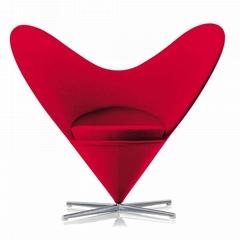 Fiberglass shell wool cover Vitra verner panton heart cone chair