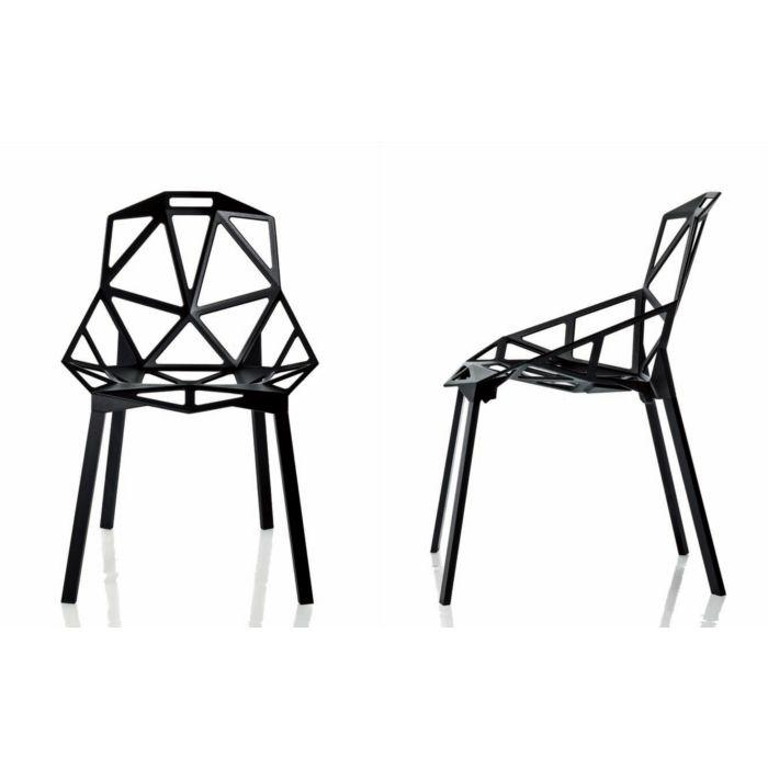 Polished Anodized Aluminum Stackable Konstantin Grcic Magis Chair One Chair 1