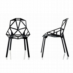 Polished Anodized Aluminum Stackable Konstantin Grcic Magis Chair One Chair