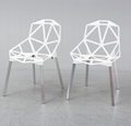 Polished Anodized Aluminum Stackable Konstantin Grcic Magis Chair One Chair 2
