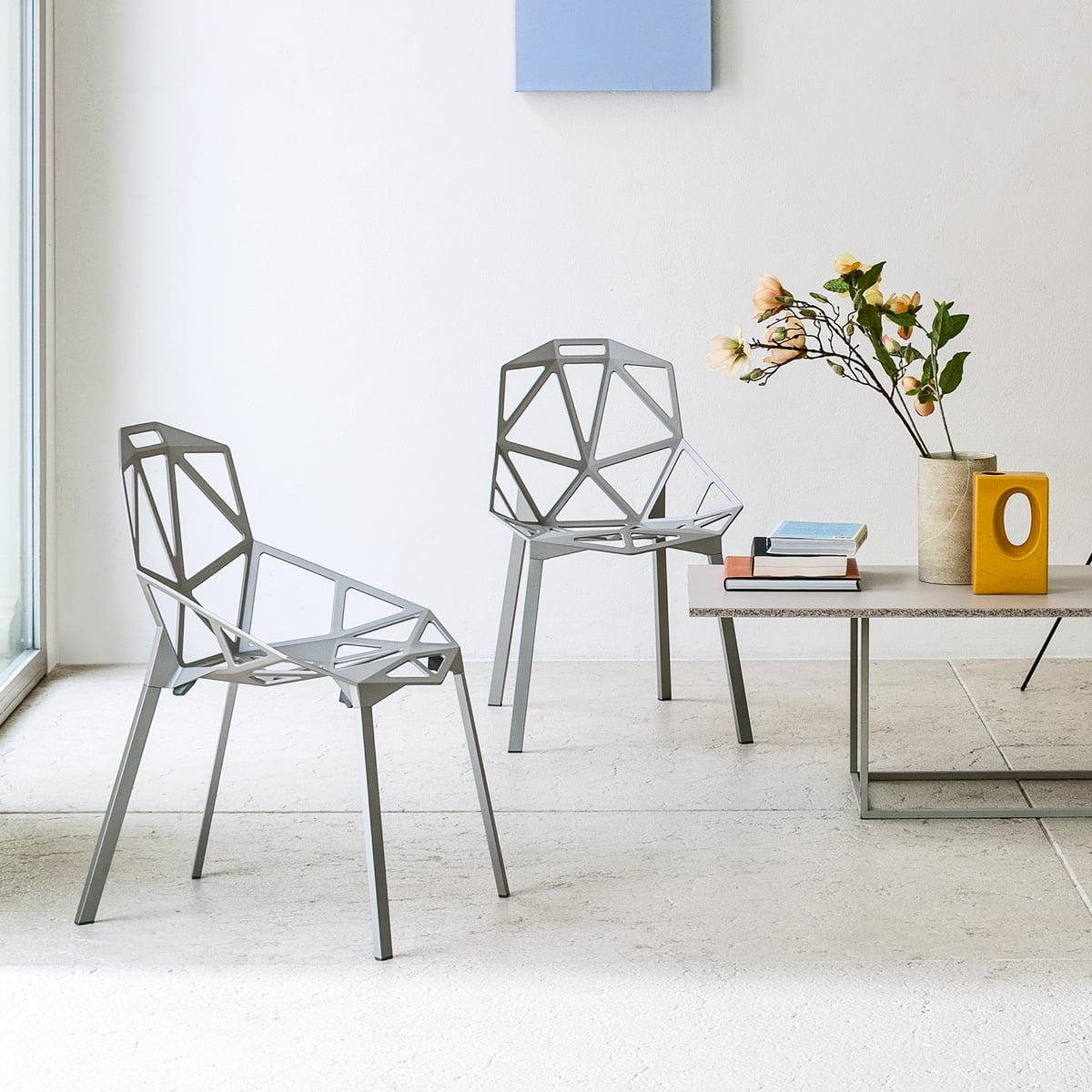 Polished Anodized Aluminum Stackable Konstantin Grcic Magis Chair One Chair 5