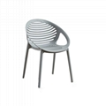 Modern Classic Designer Furniture Stackable Cello Abacus Plastic Chair 5