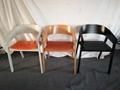 Muuto Oak Wood Cover Armchair Designed by Thomas Bentzen