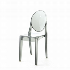 modern classic plastic chair acrylic ghost chair without arm
