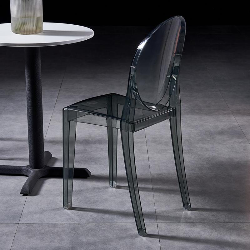 modern classic plastic chair acrylic ghost chair without arm 5
