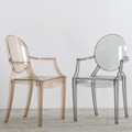 modern classic resin stackable louis ghost chair with arm 4