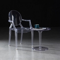 modern classic resin stackable louis ghost chair with arm 5