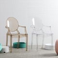 modern classic resin stackable louis ghost chair with arm 7
