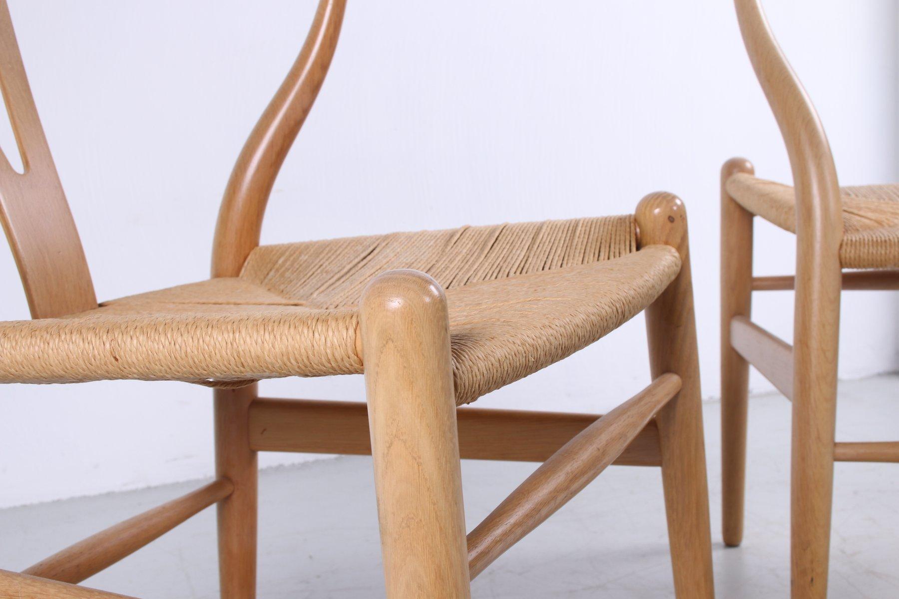 Modern Furniture CH24 Wishbone Dining Chairs by Hans J. Wegner for Carl Hansen 3