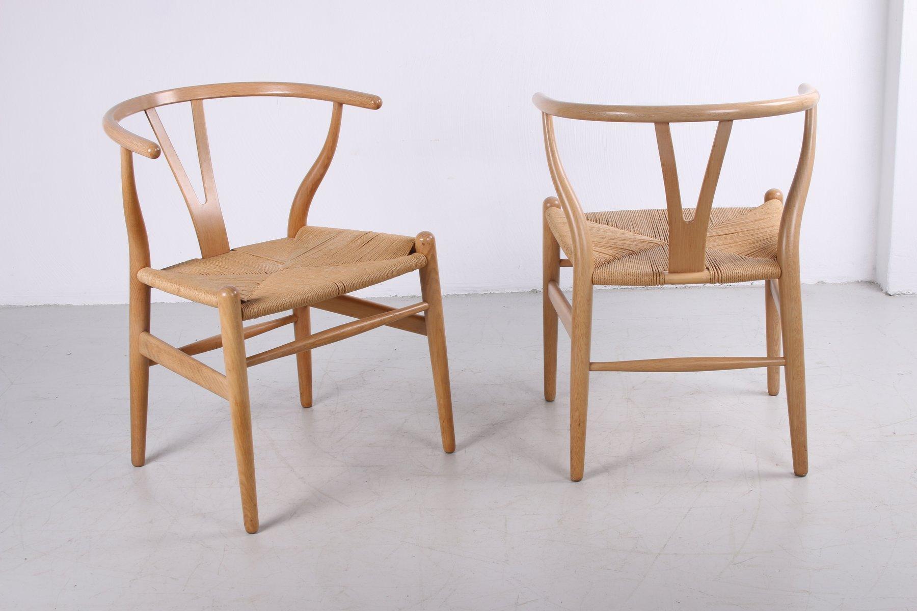 Modern Furniture CH24 Wishbone Dining Chairs by Hans J. Wegner for Carl Hansen 1