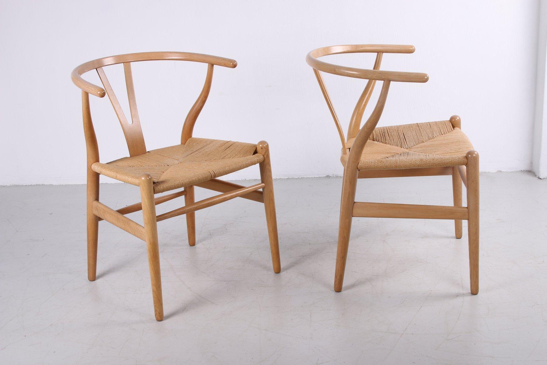 Modern Furniture CH24 Wishbone Dining Chairs by Hans J. Wegner for Carl Hansen 6