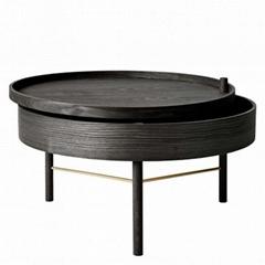 Home Interior Design Ash Wood Turning Table Menu Coffee Table