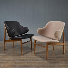 Replica Wood Furniture Leisure Style IB Kofod Larsen Fabric Lounge Chair