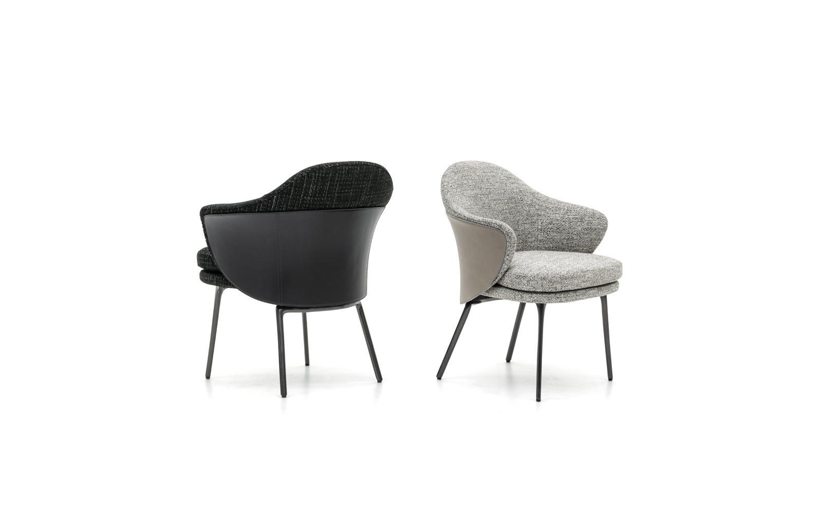 Scandinavian modern design upholstered minotti angie dining chair 2