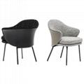 Scandinavian modern design upholstered minotti angie dining chair 4