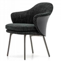 Scandinavian modern design upholstered minotti angie dining chair 5