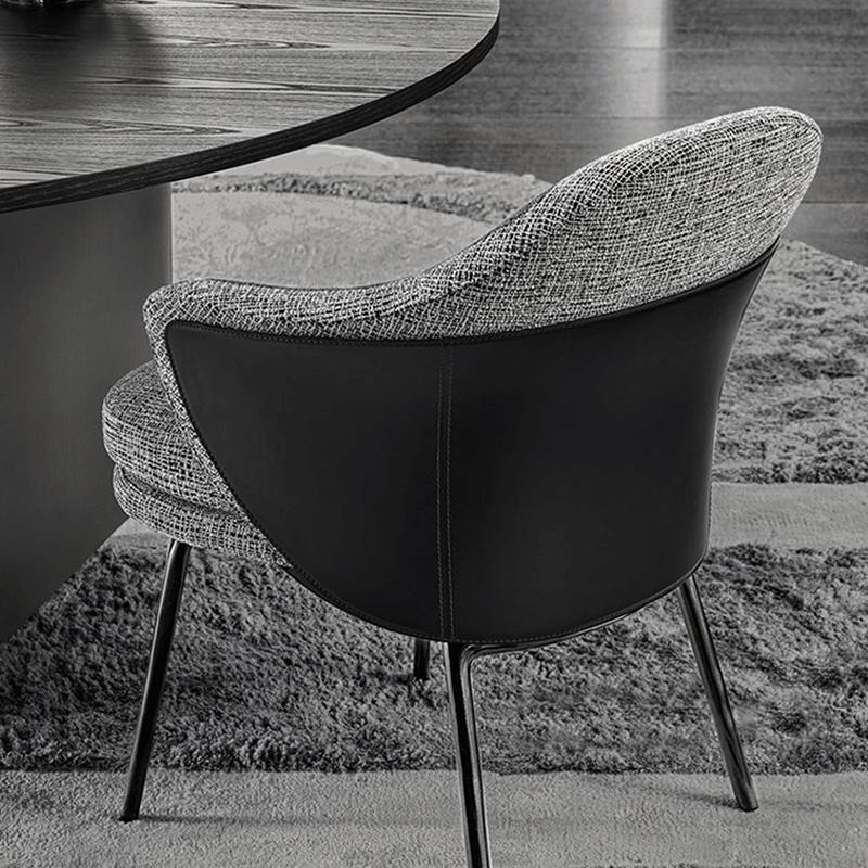 Scandinavian modern design upholstered minotti angie dining chair 6