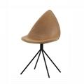 Fiberglass Shell Leather Ottawa Dining Chair 1