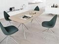 Fiberglass Shell Leather Ottawa Dining Chair 2