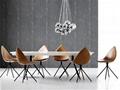 Fiberglass Shell Leather Ottawa Dining Chair 4
