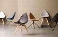Fiberglass Shell Leather Ottawa Dining Chair 6