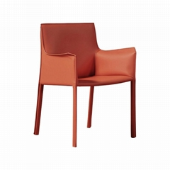 Home Furniture Leather Cassina 413 Cab Armchair designed by Mario Bellini