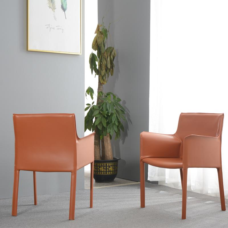 Home Furniture Leather Cassina 413 Cab Armchair designed by Mario Bellini 5