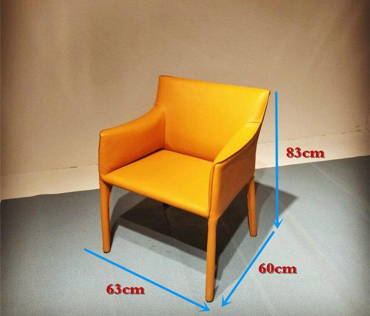 Home Furniture Leather Cassina 413 Cab Armchair designed by Mario Bellini 6