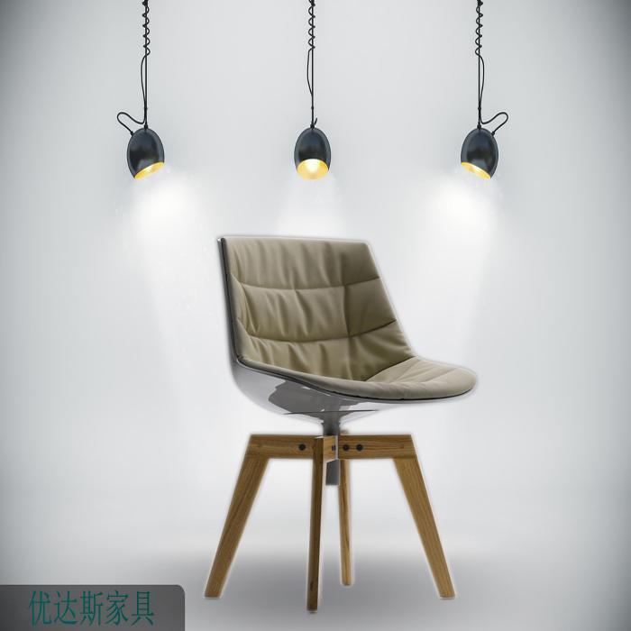 modern design plastic seat flow chair design by Jean Marie Massaud 1