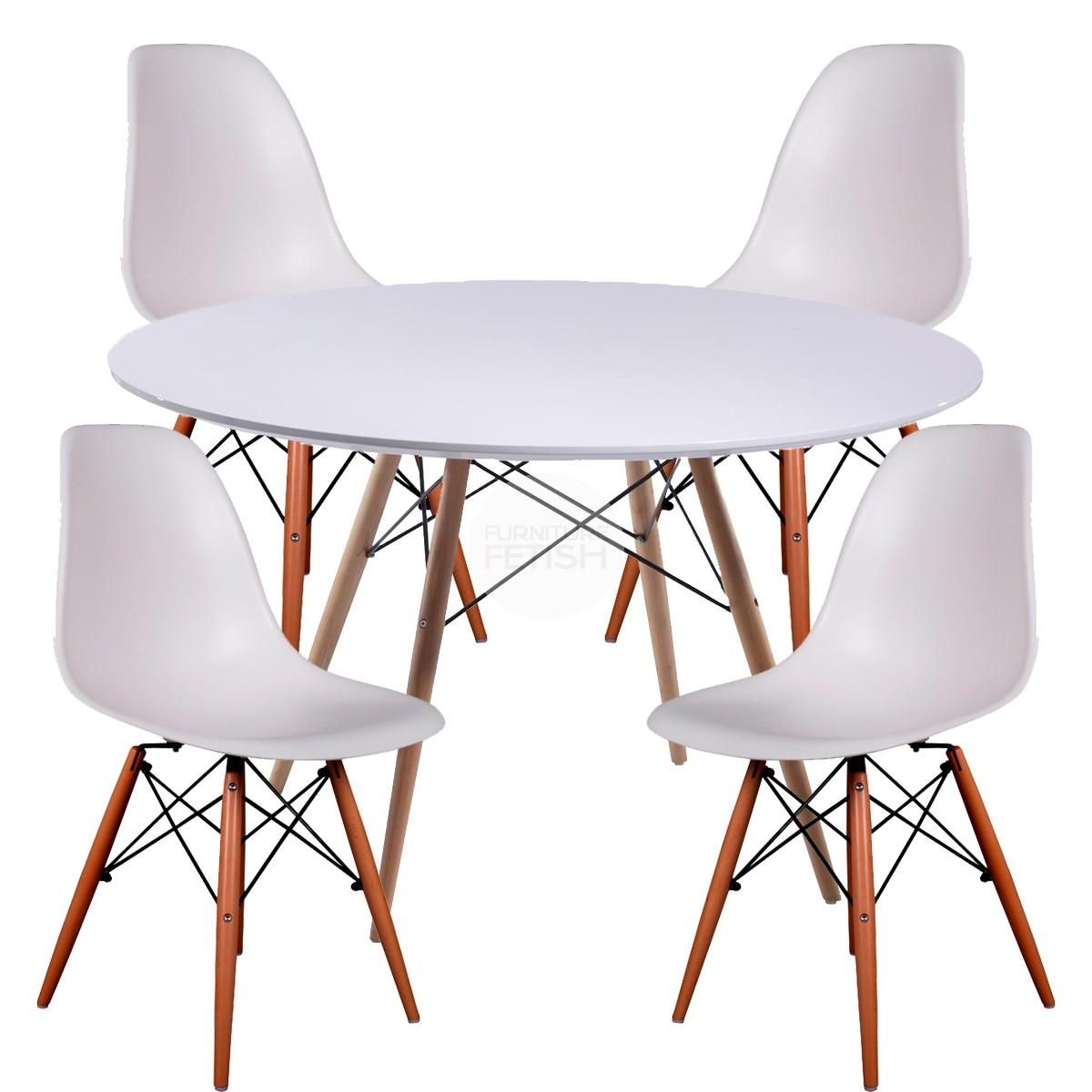 Vitra classic Eames Plastic Side Chair DSW by Ray & Charles Eames 2