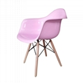Charles and Ray Eames designed the DAW armchair 3