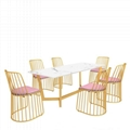 High Quality Stainless Steel Golden Veil's Bride chair 5