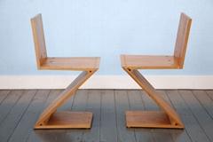 Solid Wood Cassina gerrit thomas rietveld zig zag chair