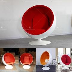 Mid Century Eero Arranio Hanging Ball Shaped Globe Chair