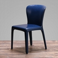 Leather Cassina Hola Chair designed by Hannes Wettstein 3