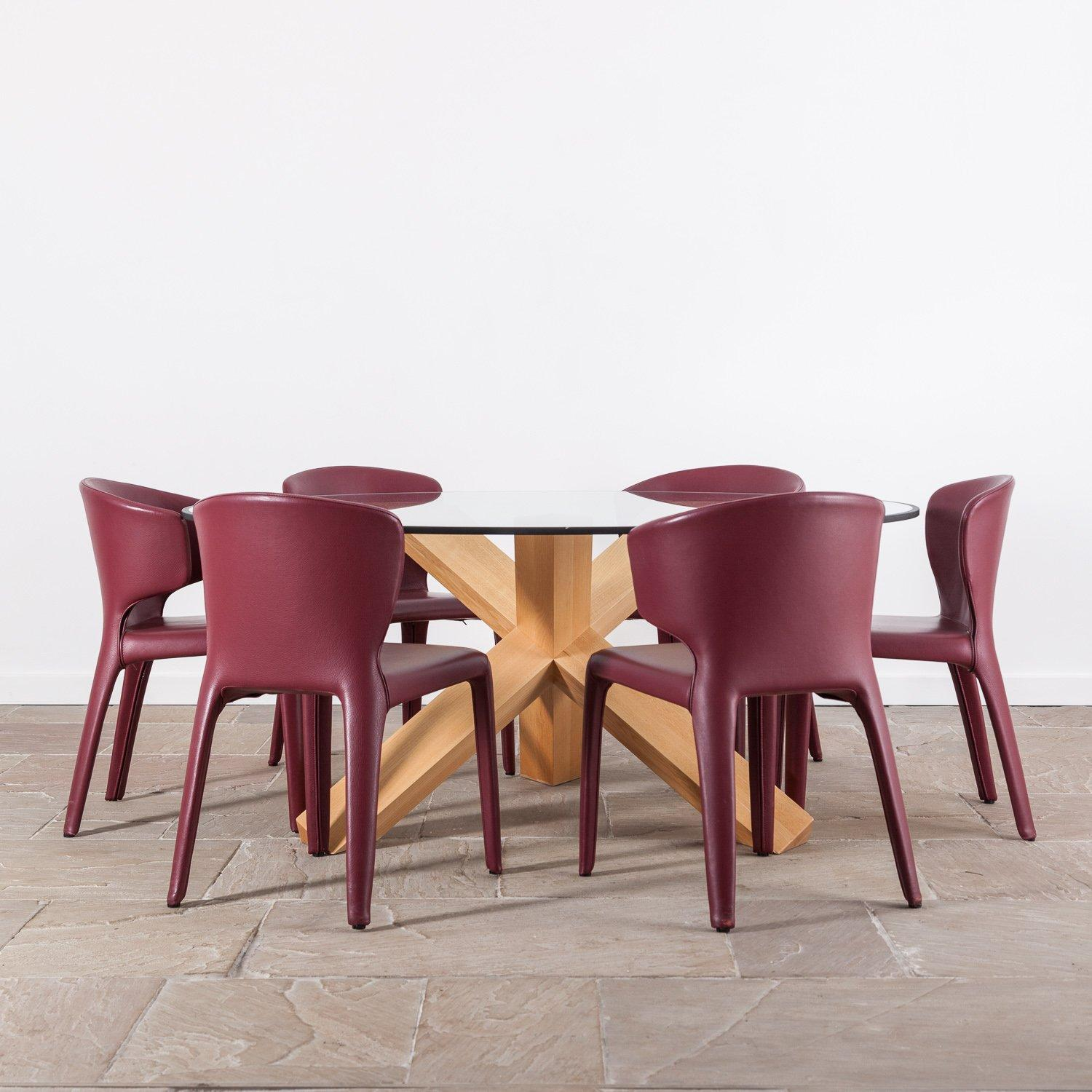 Leather Cassina Hola Chair designed by Hannes Wettstein 7