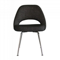 Designer Furniture Saarinen Executive Dining Chair With Stainless Steel Legs 2
