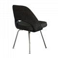 Designer Furniture Saarinen Executive Dining Chair With Stainless Steel Legs 3