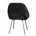 Designer Furniture Saarinen Executive Dining Chair With Stainless Steel Legs 6