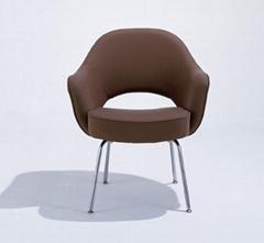 Knoll Eero Saarinen Executive ArmChair With Stainless Steel Legs
