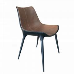 Replica Leather modloft langham dining chair